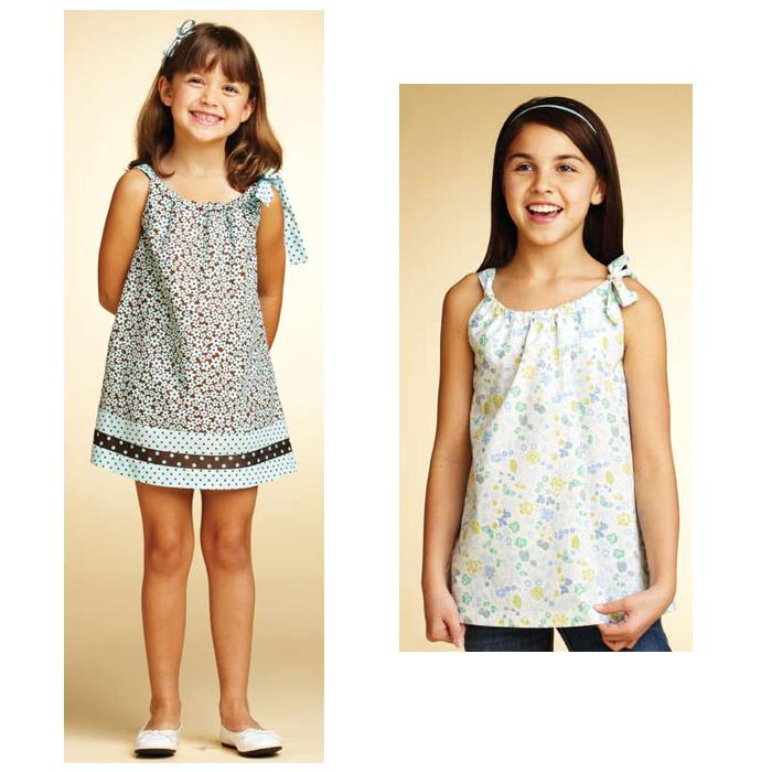 Kwik Sew Girls Side Tie Dress & Tunic