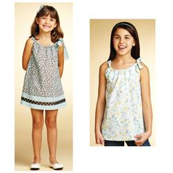 Kwik Sew Girls Side Tie Dress & Tunic Pattern
