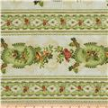 Christmas Bells Metallics Wide Stripe Multi