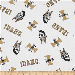 Collegiate Cotton Broadcloth University of Idaho White