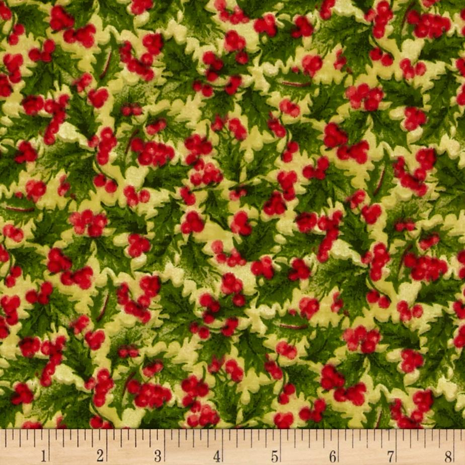 Traditional Poinsettia Packed Holly Green