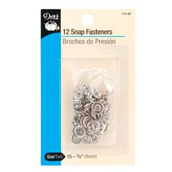 Dritz Gripper Snaps 3/8'' Nickel