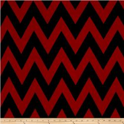 ITY Jersey Knit Chevron Red