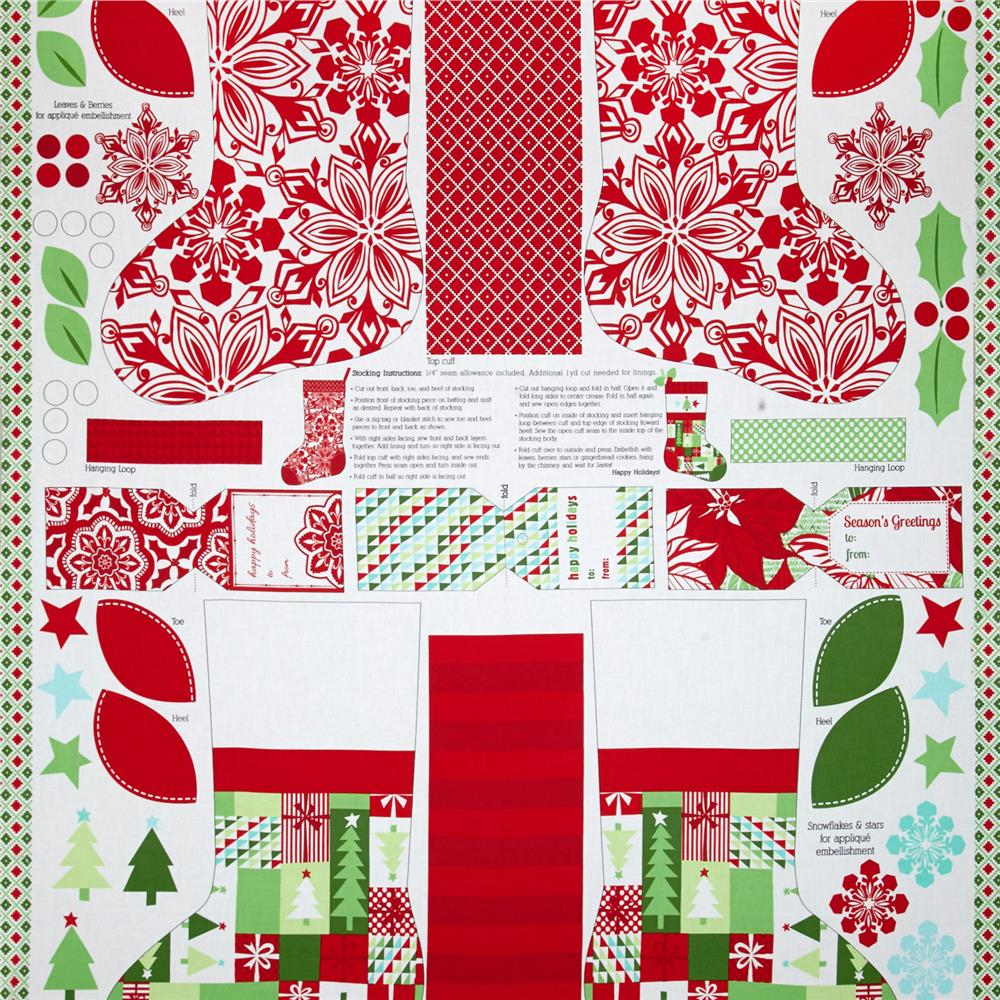 Moda Jingle 24'' Panel Multi Fabric