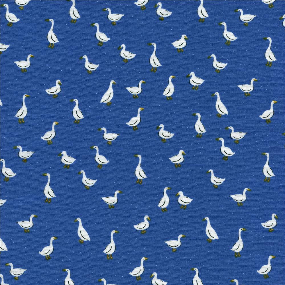 Timeless Treasures Little Farm Ducks Blue