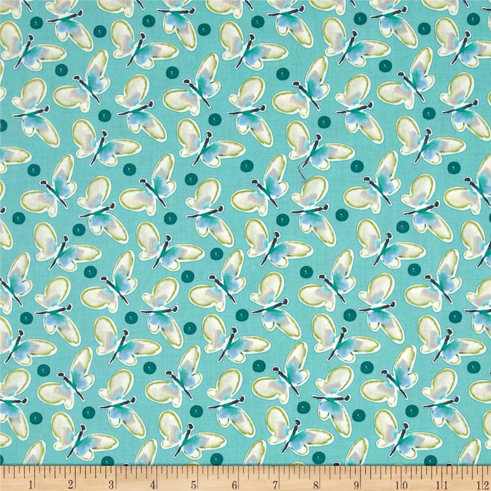 Blossoming Butterfly Roundup Aqua
