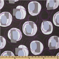 Voile Circles Grey/Purple/White
