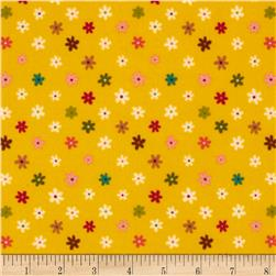 Daydream Girl Flannel Daisy Flower Adventure Fabric