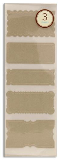 Martha Stewart Crafts Labels Cherish Grey