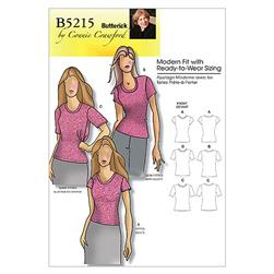 Butterick Misses'/Women's Petite Top Pattern B5215 Size MIS