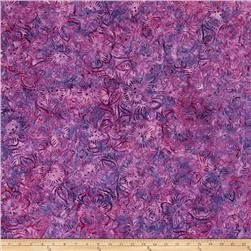 Batavian Batiks Dancing Flowers Purple