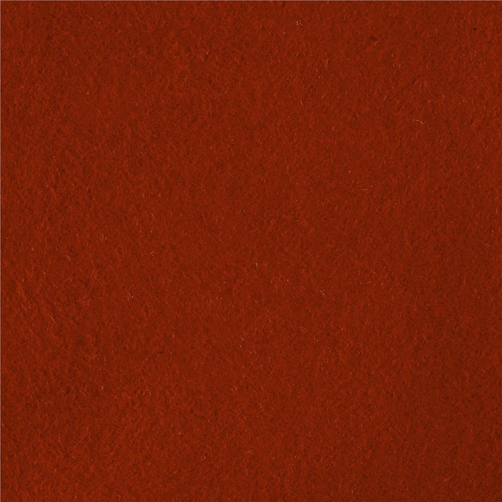 Luxury Wool Cashmere Melton Burnt Orange Discount Designer Fabric