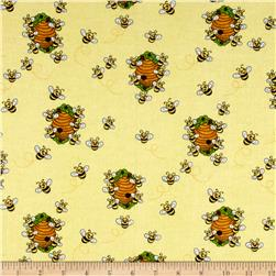 Comfy Flannel Bee Hive Yellow