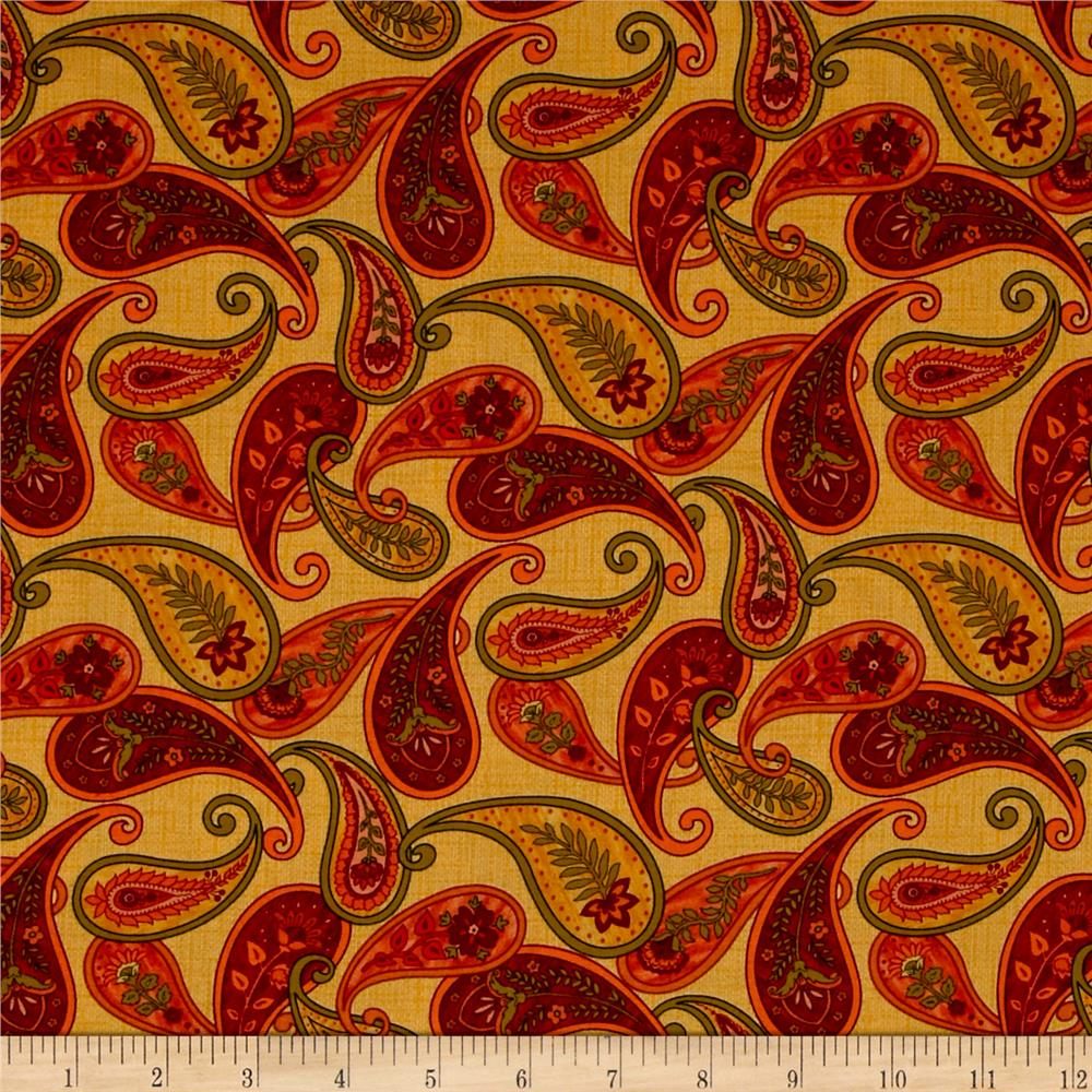 Autumn Abundance Paisley Yellow