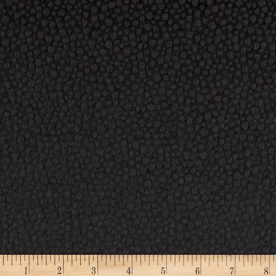 Pebble Jacquard Crepe Light Black