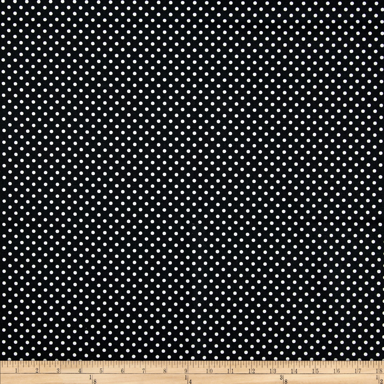 Premier Prints Dottie Black/White Fabric