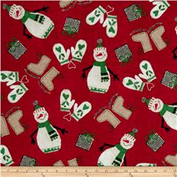 Craft Paper Christmas Happy Snowmen Red