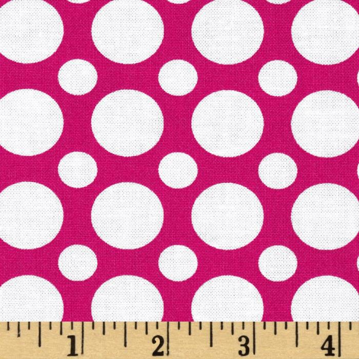 Kaufman Spot On Large Dot Hot Pink