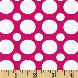 Kaufman Spot On Large Dot Hot Pink Fabric