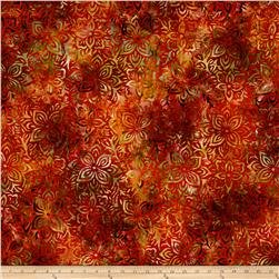 Anthology Batik Large Floral Red/Taupe