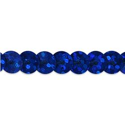 6mm Slung String Sequin Trim 100 yard Roll Royal Blue