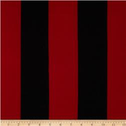 Soft Jersey Knit Large Stripes Red/Black