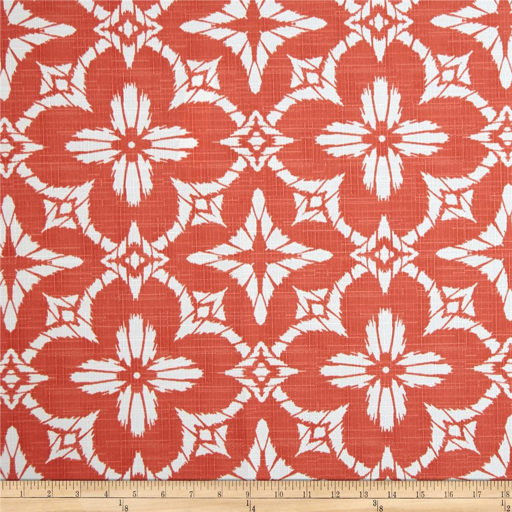 Discount outdoor fabric by the yard - Richloom Indoor Outdoor Aspidoras Coral Discount Designer Fabric P