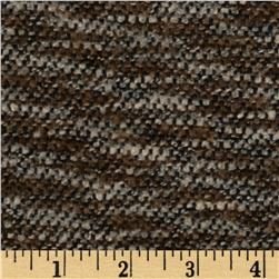Boucle Tweed Coating Stripe Black/Taupe