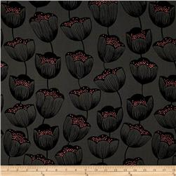 Cotton + Steel Magic Forest Rayon Challis Magic Tulips Grey
