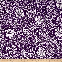 Maggy London ITY Knit Floral Ikat Purple/White