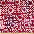 Indian Batik Cascades Daisy Pink/Purple