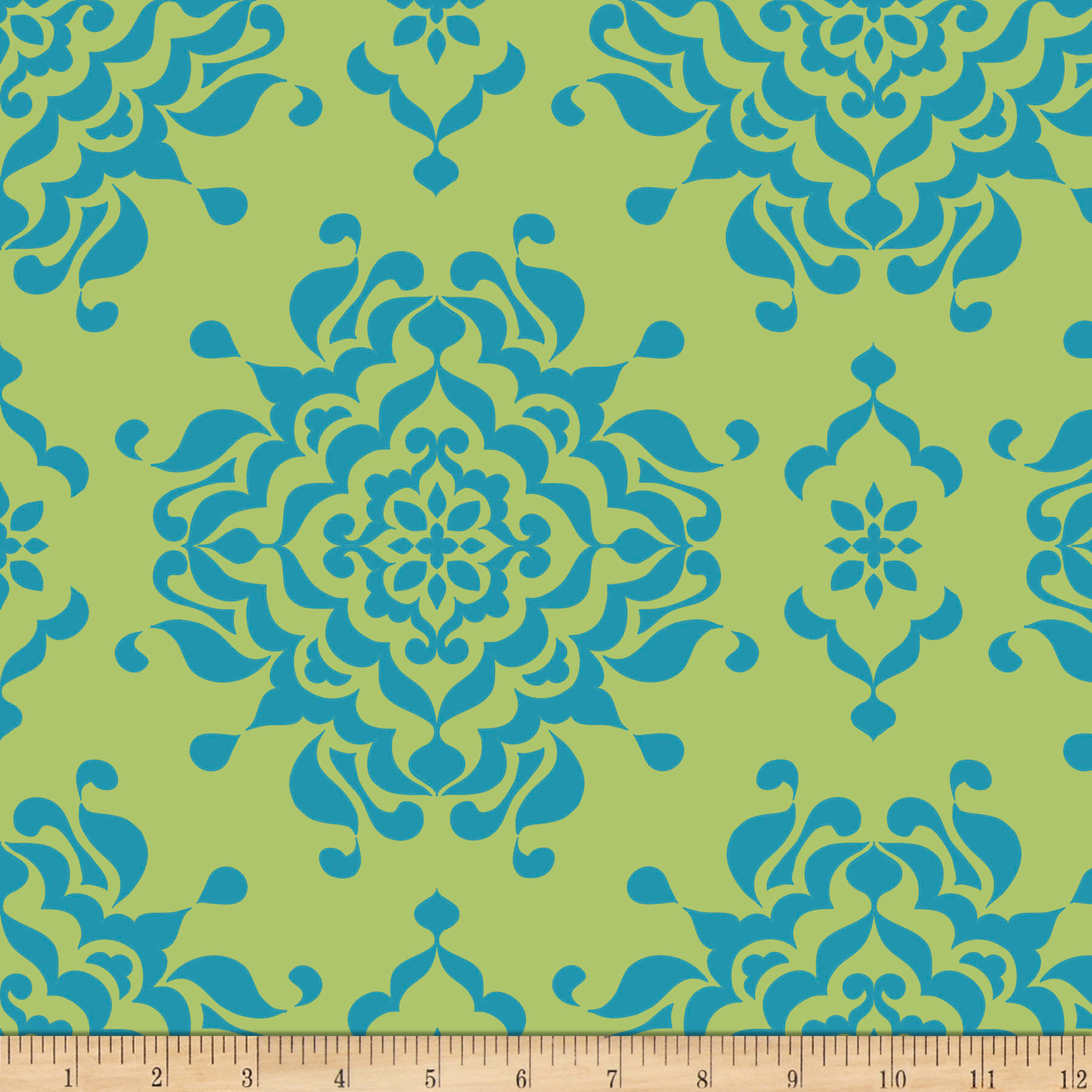 Riley Blake Splendor Damask Green