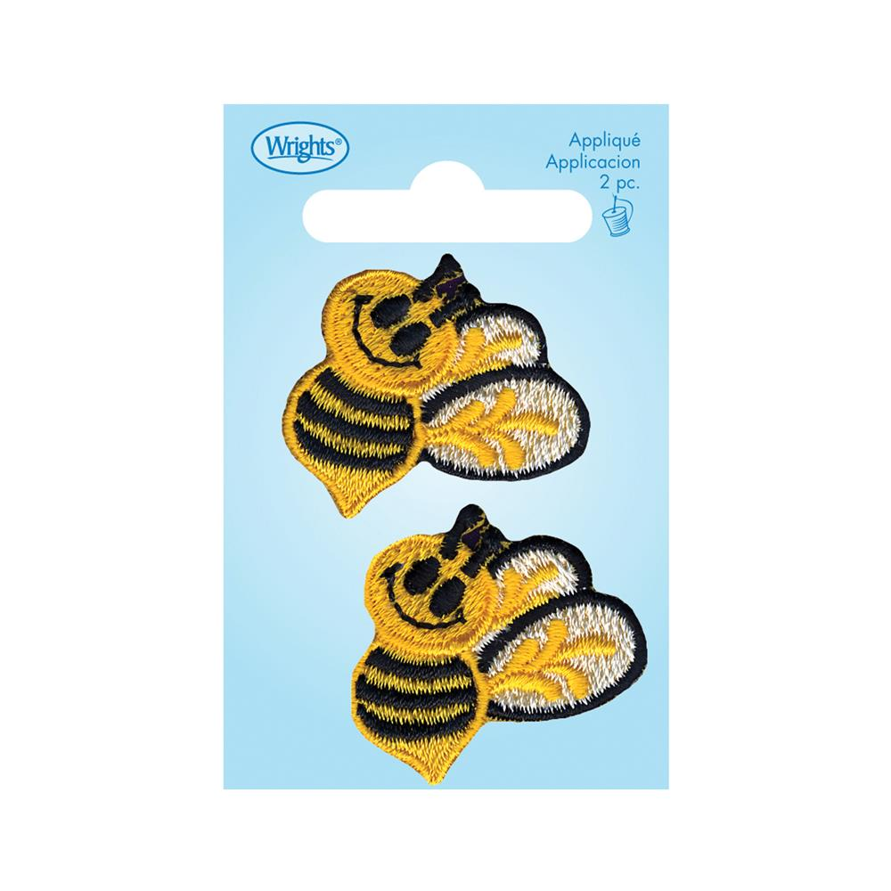 Wrights Iron On Appliques 2/Pkg Bumblebees