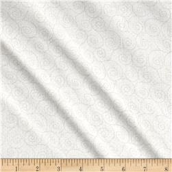 "Basically Wide 108"" Quilt Back Scroll Ivory"
