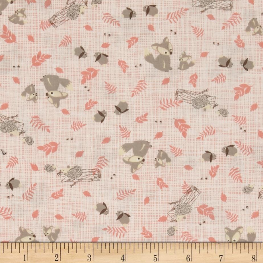 Moda Lullaby Woodland Critters Peach