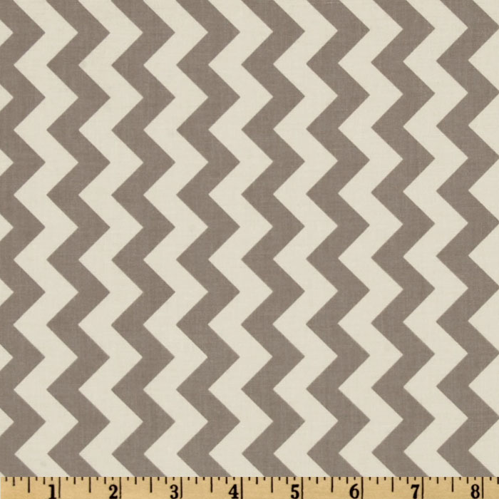 Riley Blake Chevron Small Grey Fabric