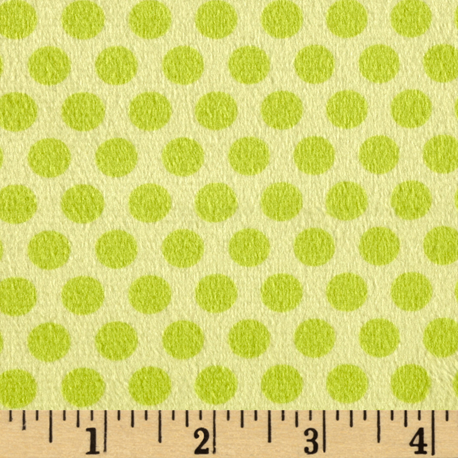 Minky 2 Tone Dot Lime Fabric by E.Z Fabric in USA