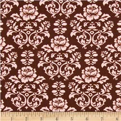 Pimatex Basics Damask Chocolate Fabric
