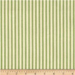 "44"" Ticking Stripe Apple Green"