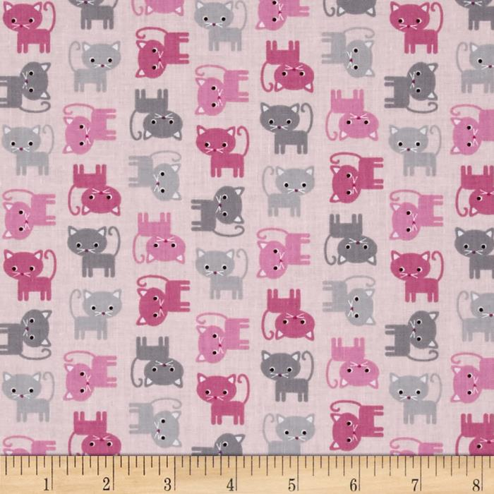 Kaufman Urban Zoology Minis Little Cats Pink