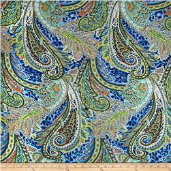 Rayon Voile Abstract Blue/Multi