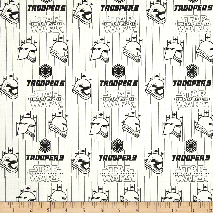 Star Wars The Force Awakens Storm Troopers White Fabric 0418937