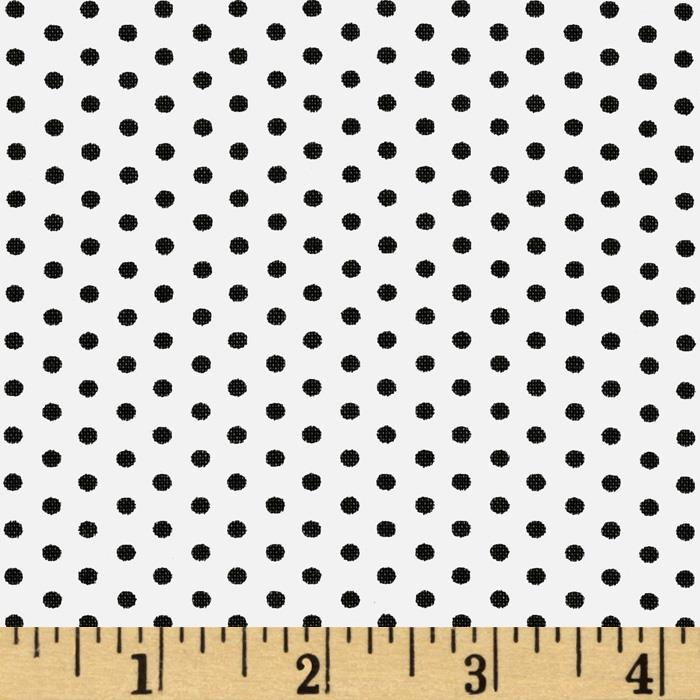 Kaufman Spot On Pindot White