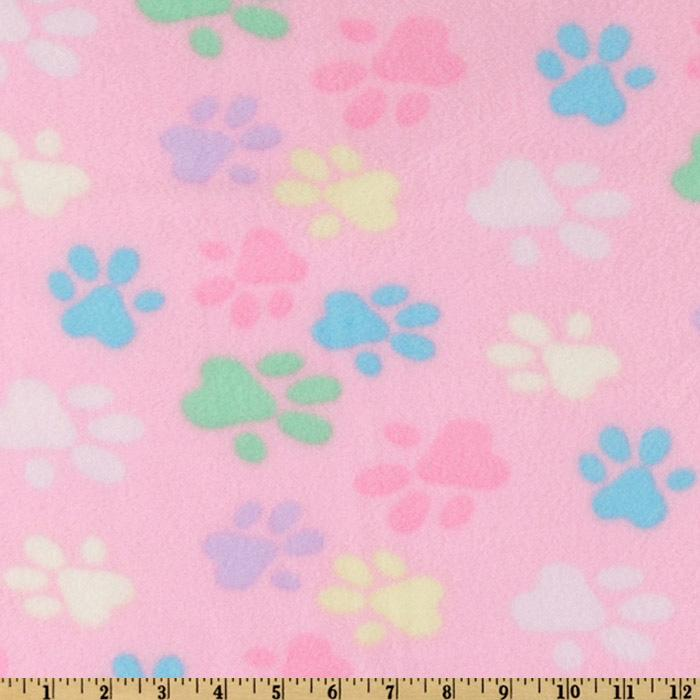 WinterFleece Light Pink Paws