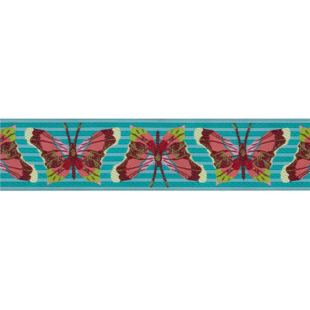 1 1/2'' Anna Maria Horner Ribbon Stripe Butterfly Turquoise