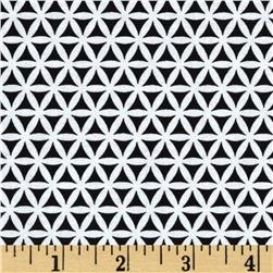 Twilight Geometric Black Fabric
