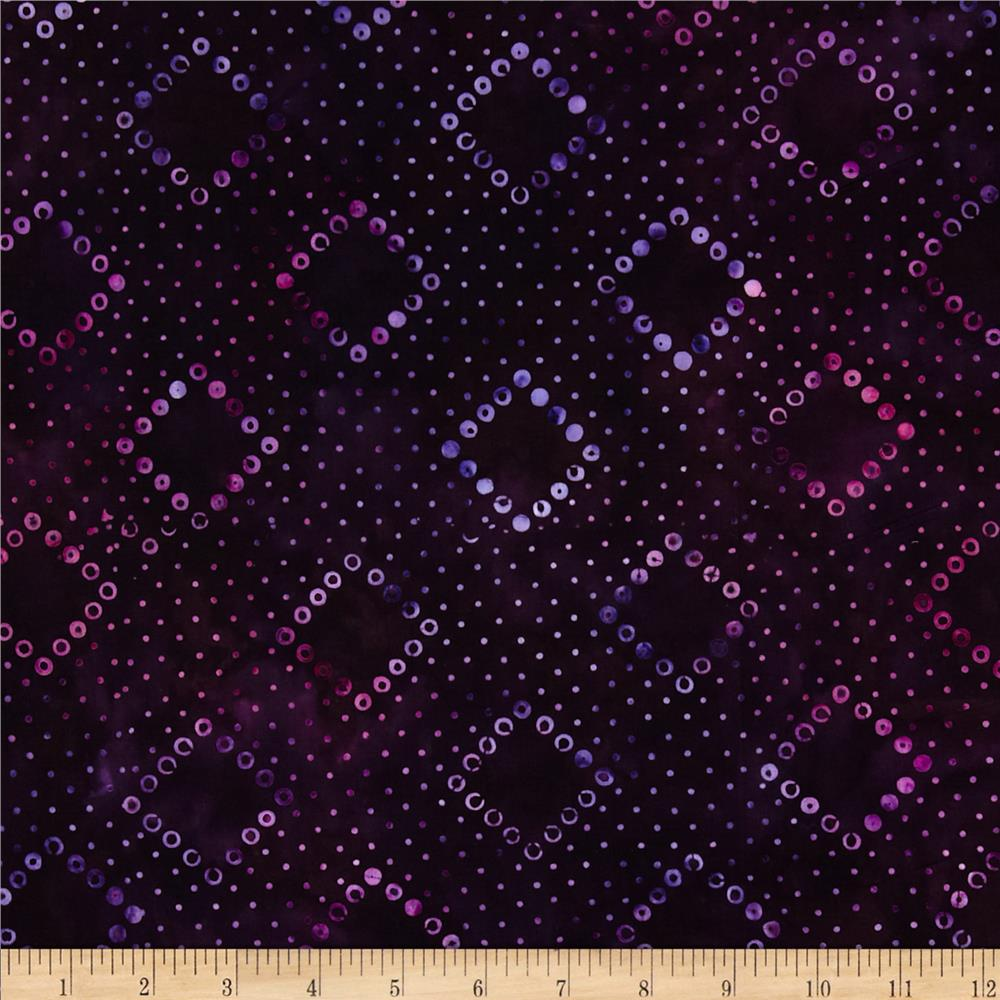 Artisan Batiks Tango 3 Geo Diamonds Berry Purple
