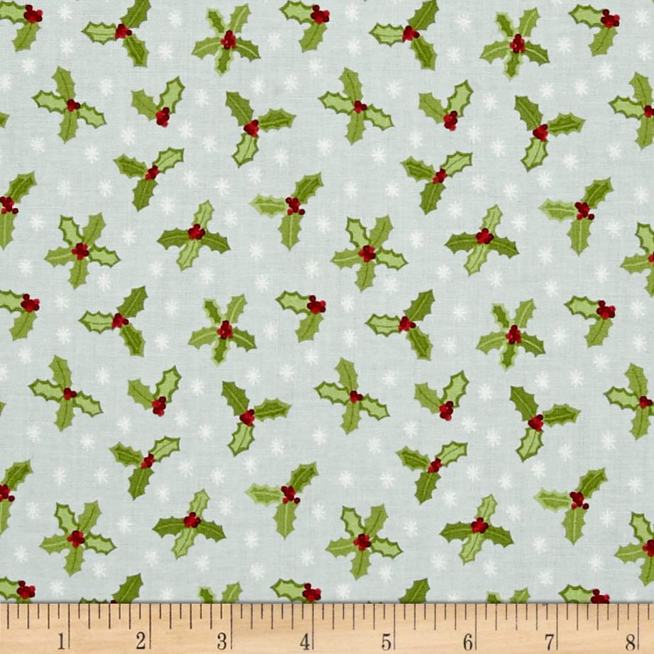 Lewis & Irene Small Things At Christmas Holly Icy Blue