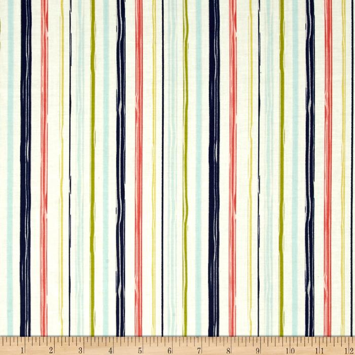 Riley Blake Woodland Spring Stripe Navy