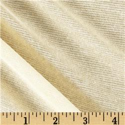 Lurex Knit Solid Metallic Medium Tan/Gold